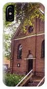 Baptist Church In Giethoorn. Netherlands IPhone Case