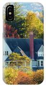 Bar Harbor Autumn House IPhone Case