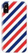 Barber Stripes IPhone Case by Julia Jasiczak