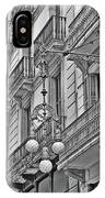 Barcelona Balconies In Black And White  IPhone Case