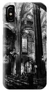 Barcelona Cathedral Interior Bw IPhone Case