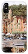 barche a Portofino IPhone Case