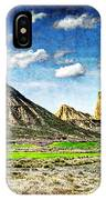 Bardenas Desert Panorama 4 - Vintage Version IPhone Case