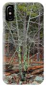 Bare Tree And Boulders In Mark Twain Forest IPhone Case
