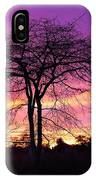Bare Trees In Gorgeous Sunset IPhone Case