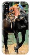 Bareback Bronc Rider IPhone Case