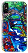 Barges On The Riverwalk IPhone Case