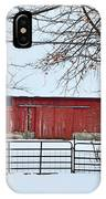 Barn In The Winter IPhone Case