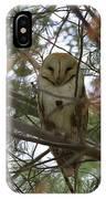 Barn Owl Sleeping IPhone Case