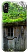 Barn With Green Roof IPhone Case