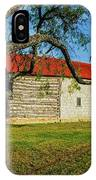 Barn With Red Metal Roof IPhone Case