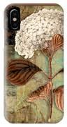 Baroque Hydrangea Patchwork IPhone Case