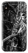 Barred In Black And White IPhone Case