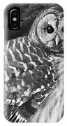 Barred Owl Beauty IPhone Case