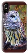 Barred Owl In The Rain Oil Painting IPhone Case