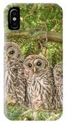 Barred Owlets Nursery IPhone Case
