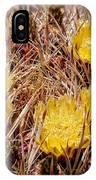 Barrel Cactus Flowers 2 IPhone Case