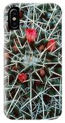 Barrel Cactus With Pink Blooms IPhone Case