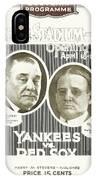 Baseball Program, 1923 IPhone Case