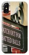 Baseball Warning IPhone Case
