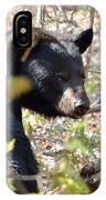 Bashful Black Bear IPhone Case