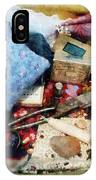 Basket Of Sewing Supplies IPhone Case