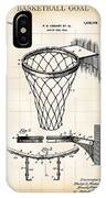 Basketball Goal Patent 1924 IPhone Case