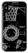 Basketball Net Patent 1951 In Black IPhone Case