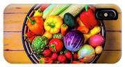 Basketful Of Fresh Vegetables IPhone X Case