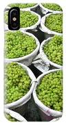 Baskets Of White Grapes IPhone Case