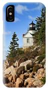Bass Harbor Light IPhone Case