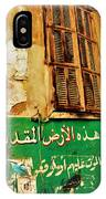 Basta Wall Art In Beirut  IPhone Case