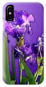 Batik Irises IPhone X Case
