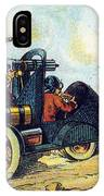 Battle Cars, 1900s French Postcard IPhone Case