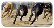 Battle Of The Racing Greyhounds At The Track IPhone Case