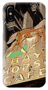 Bay Horse Cafe Sign IPhone Case