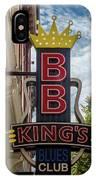 Bb King's Blues Club - Honky Tonk Row IPhone Case