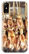 Bbq Asian Grilled Squid In Kep Market Cambodia IPhone Case