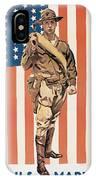 Be A U.s. Marine IPhone Case