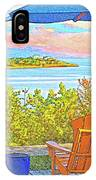 Beach House On The Bay IPhone Case