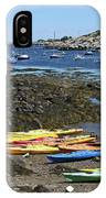 Beached Kayaks At Rockport Harbor IPhone Case