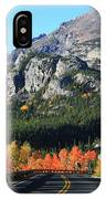 Bear Lake Road In Autumn IPhone Case