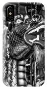 Bearded Dragon Ride Black And White IPhone Case