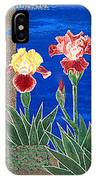 Bearded Irises Cheerful Fine Art Print Giclee High Quality Exceptional Color IPhone Case