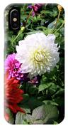 Beautiful And Fresh Dahlias In The Butchrt  Gardens,vancouver Island 1. IPhone Case