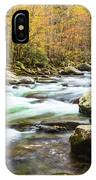 Beautiful Autumn Colors Little Pigeon River Smoky Mountains IPhone Case