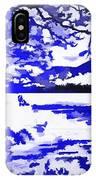 Beautiful Blue Pop Art Scene IPhone Case