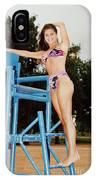 Beautiful Brunette Model At The Beach IPhone Case