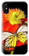 Beautiful Butterfly On Poppy IPhone Case