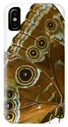 Beautiful Butterfly Wings Of Meadow Brown Isolated IPhone Case